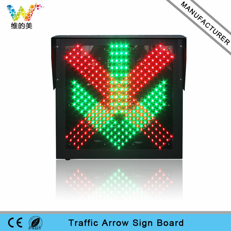 600mm LED Toll Station Traffic Aspect Signal Light red cross green arrow light