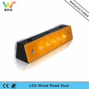 High quality plastic tunnel wired LED road stud light