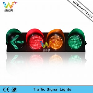 High quality 300mm red yellow green traffic signal light with arrow signal light