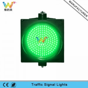 New design road safety 300mm green LED light traffic signal light