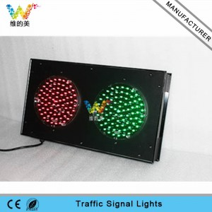 Shenzhen Factory customized 200mm industrial guide red green traffi signal light