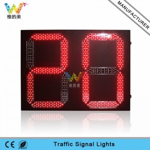 High brightness red geen color 600*800mm 2 digitals LED traffic countdown timer