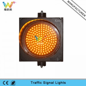 New design 400mm yellow single light LED traffic signal light in Thailand