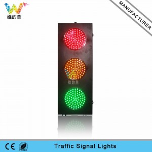 Customized mould 8 inch cold-rolled plate red yellow green LED traffic signal light