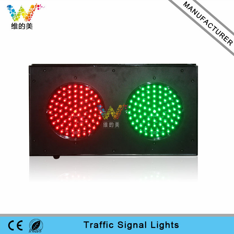 Customized Aluminum 200mm Parking Lots Mini Traffic Signal