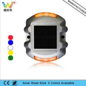 High quality IP68 aluminum housing solar power LED lanscape flashing light