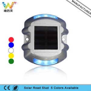 Aluminum housing blue LED flashing pavement maker solar road studs