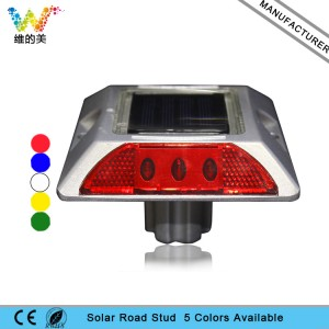 Aluminum led cat eyes reflector solar road stud