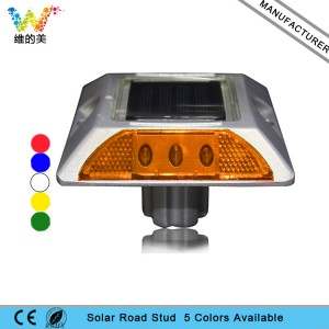 Aluminum alloy garden light solar power cat eye road stud