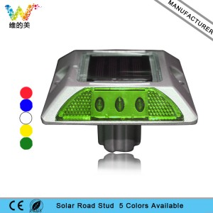 High quality green flashing light LED solar road stud