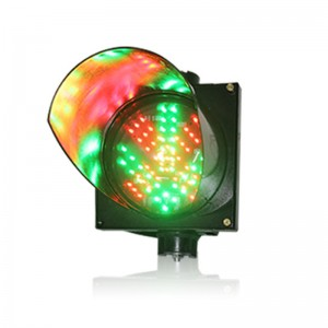 200mm red cross green arrow LED traffic signal light parking lots guide light