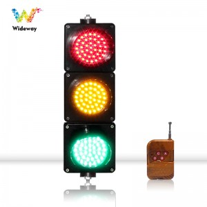 New design 125mm red yellow green LED traffic signal light with remote control for school teaching