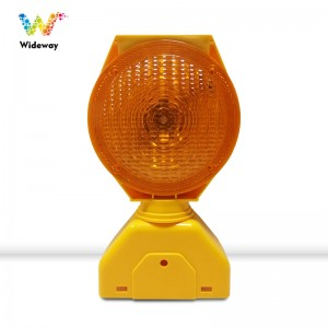 New deisgn Factory price high brightness LED Solar Powered yellow Traffic Barricade Warning light led traffic light