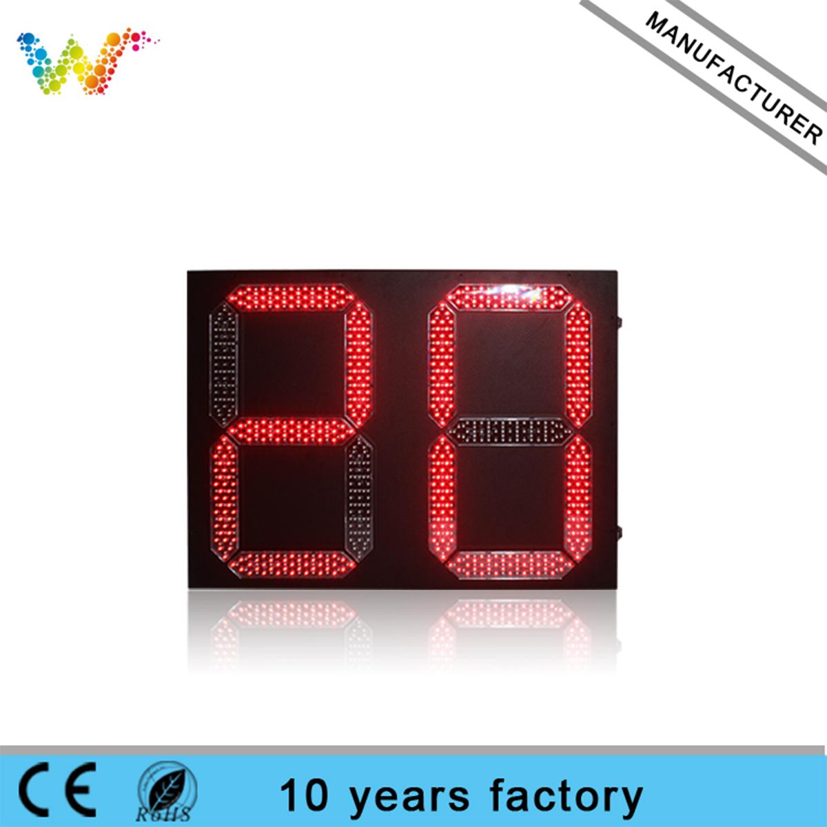 800*600mm Outdoor 2 digital Led Traffic Light Countdown Timer