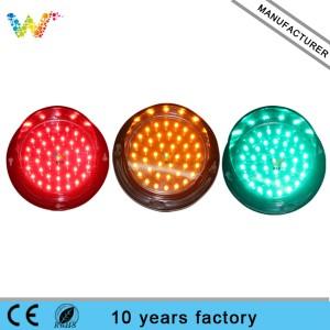 High Quality Customized color Mini Intelligent 100mm LED Traffic Light Module