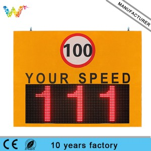 Variable Messaging Board radar Speed Limit Signs Highway Traffic LED Display Screen
