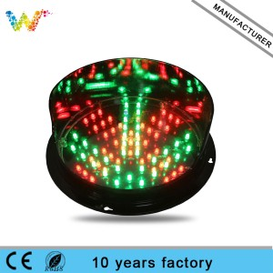 200mm red cross green arrow led traffic signal light module