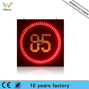 Customized size high quality radar led flashing variable speed limit sign