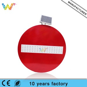 Round led traffic signs solar warning sign
