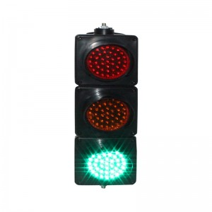 100mm PC housing DC12V red yellow green colored lens mini school teaching LED traffic signal light
