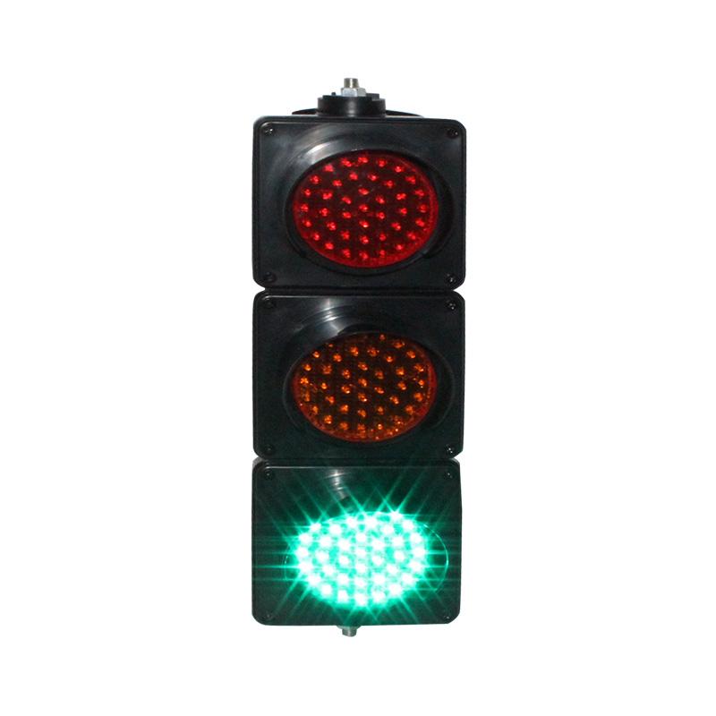 100mm PC housing DC12V red yellow green colored lens mini school teaching LED traffic signal light