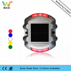 CE RoHS approved red LED flashing light aluminum solar road stud