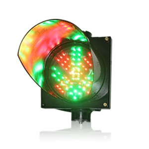 High quality 200mm PC housing red cross green arrow 2 in 1 LED traffic signal light