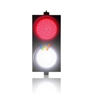 Unique design road safety PC housing  300mm red white full ball LED traffic signal light