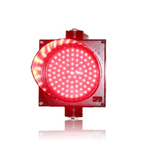High quality single red light 200mm PC LED traffic signal light