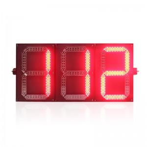 New design three digital PC housing red green LED traffic light countdown timer