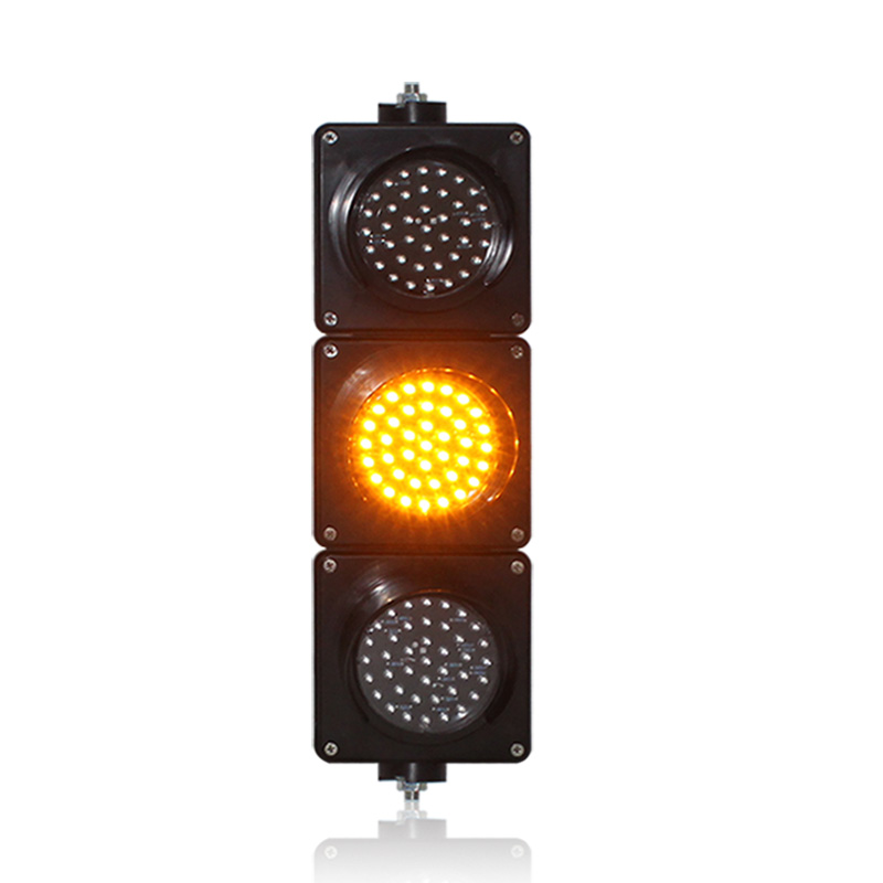 hot selling PC housing 100mm red yellow green LED traffic signal light for school education