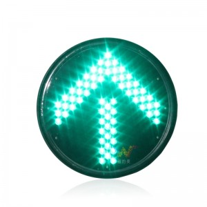 factory direct price 300mm green arrow LED traffic signal light with Fresnel lens