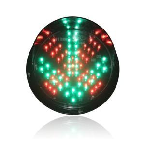 New design DC12V traffic signal light module 200mm red cross green arrow traffic light replacement in Dubai