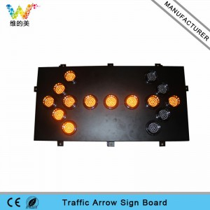 1200*600mm 15pcs 100mm lamps aluminum LED arrow board