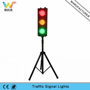 Customized design mini 125mm red yellow green traffic light with pole