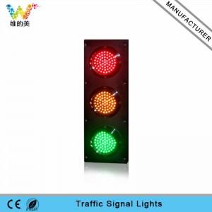 Customized mini 125mm LED traffic signal light for school teaching