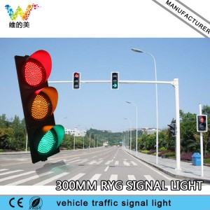 Poly carbonate Red Yellow Green 300mm Traffic Signal Light
