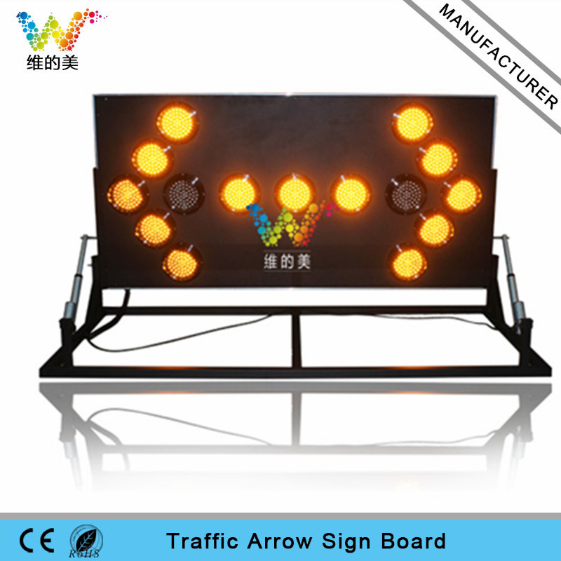 Shenzhen factory 180 degree folding aluminum LED arrow board light