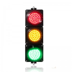 Wide way customized 100mm PC housing traffic signal light