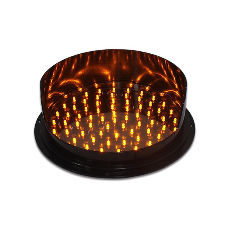 New design high brightness 300mm Yellow traffic signal light module with visor