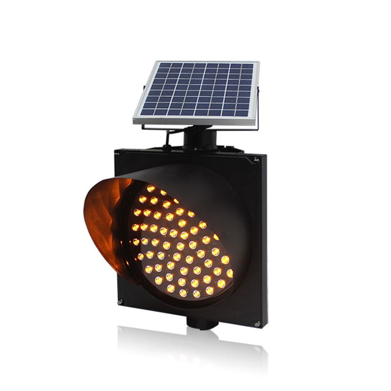 Road constuction solar warning flashing light