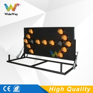 Wide way Folding stand arrow board with light sensor