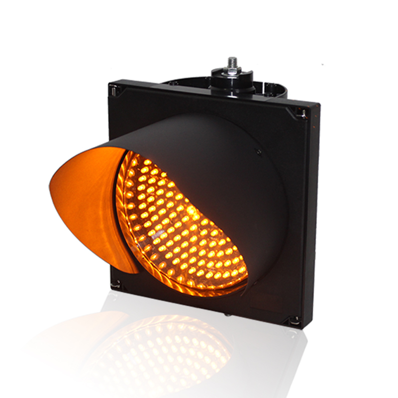 Factory direct price IP55 CE RoHS approved PC shell 200mm single yellow LED traffic signal light in Indonesia