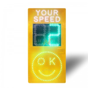 Highway solar radar speed limit sign