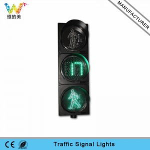 300mm LED traffic pedestrian signal light with countdown timer