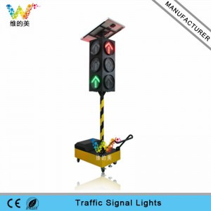 300mm solar portable LED traffic arrow signal light