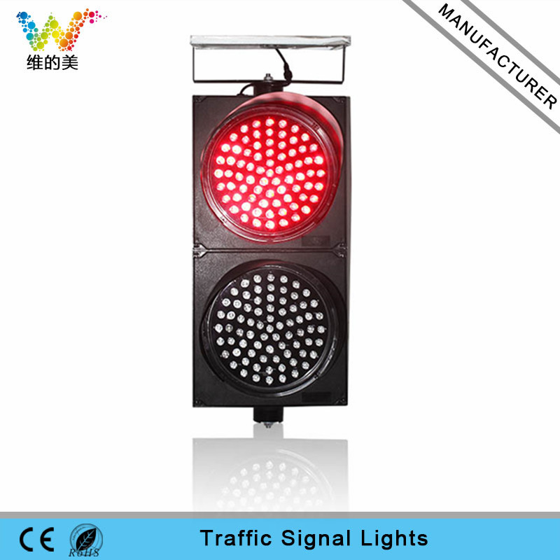 300mm red yellow LED traffic signal solar traffic light