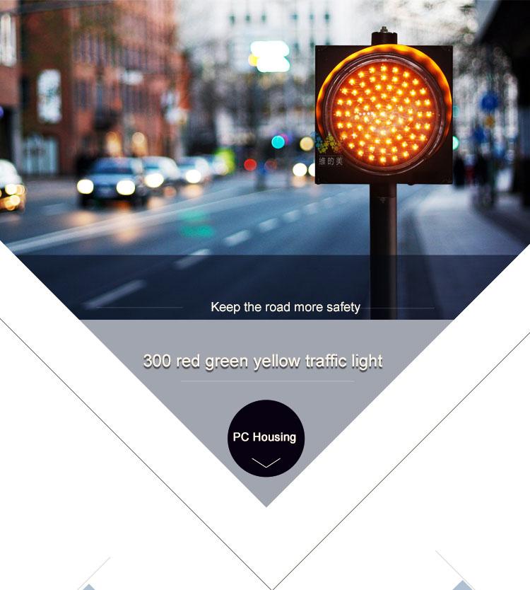 300mm housing LED traffic light  det1