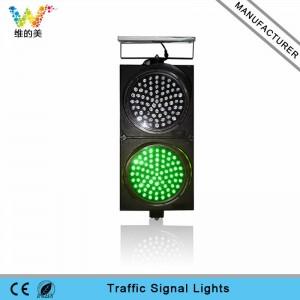 High quality 300mm red green solar power LED traffic signal light
