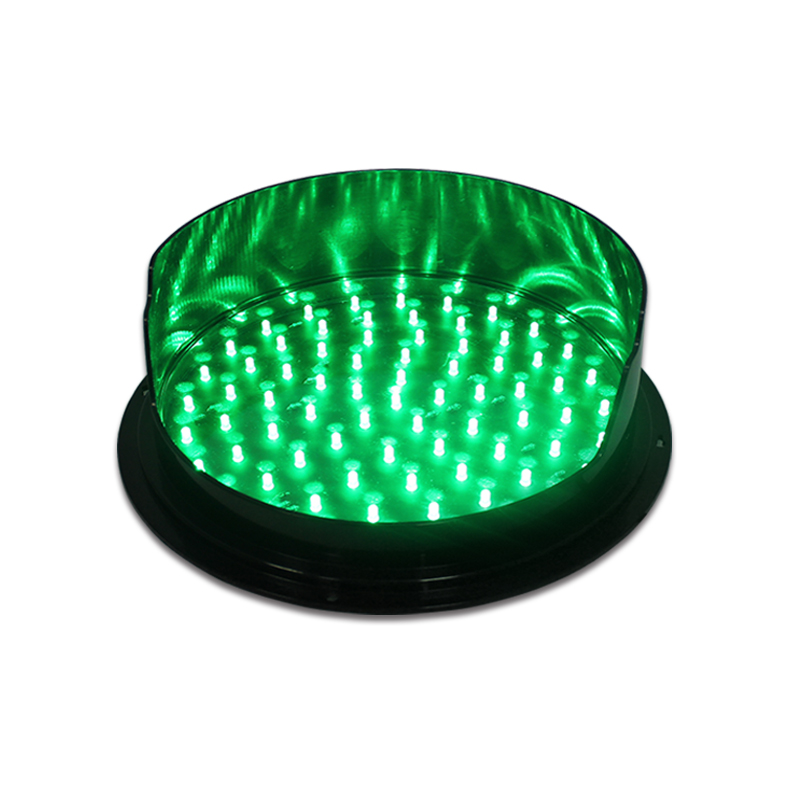 DC12V traffic light module with visor 300mm green traffic signal for sale